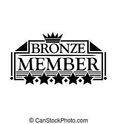 Bronze member Icon. Flat design.