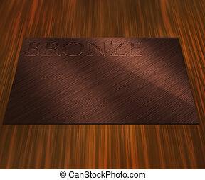 Bronze Metal Plate