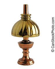 bronze, miniatura, de, antigüidade, abajur tabela