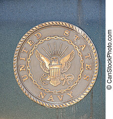 Bronze Navy Seal on Granite Wall