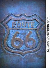 bronze., parcours, vieux, 66, signe