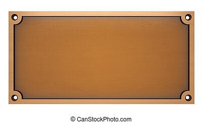 bronze, platte