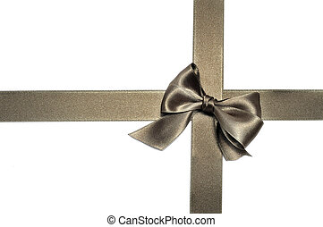 bronze ribbon bow