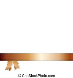Bronze Ribbon on white background