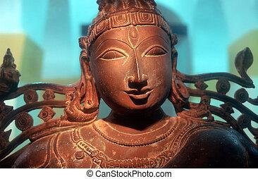 Bronze Sculpture Dancing Shiva - Thanjavur, Tamil Nadu,...