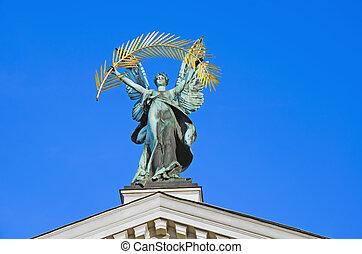 "Bronze sculpture of ""Glory"", Lviv"