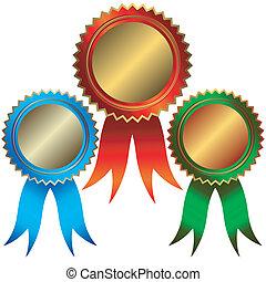 bronze, silber, medaillen, sammlung, gold