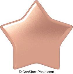 bronze, star.