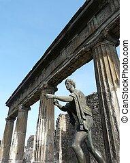 Bronze statue of Apollo at Pompeii