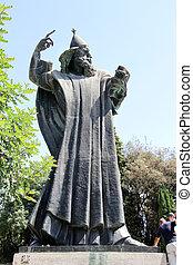 Bronze statue of Grgur Ninski in Split, Croatia
