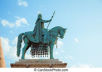 Bronze statue of Stephen I of Hungary