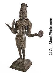 Bronze Statue of the Hindu Goddess Lakshmi