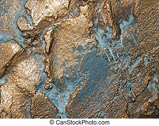 Bronze surface with patina