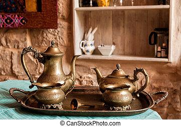Bronze tea and coffee service