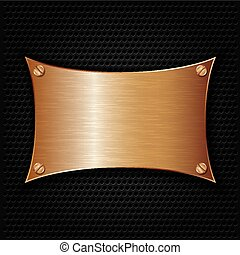 Bronze texture plate with screws, v