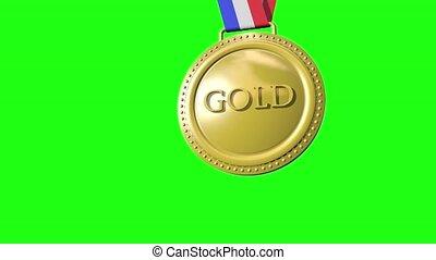 bronze, vert, médailles, or, argent