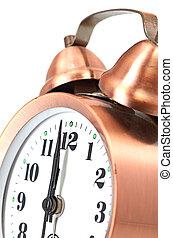 bronze vintage alarm clock