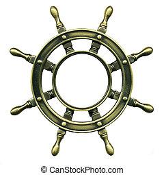 bronze wheel , close-up photography. Very hi rez photo