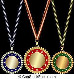 bronzo, argento, medaglie, oro