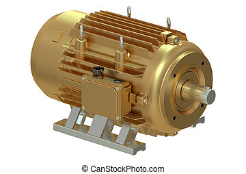 bronzo, industriale, motore elettrico