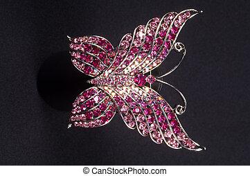 brooch in the shape of a butterfly