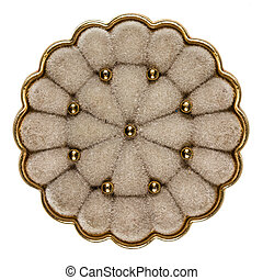 Brooch with natural fur, fashion accessory, decorative element,