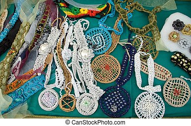 Brooches, necklaces, earrings ...