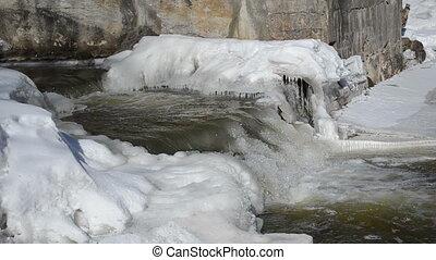 brook cascade stair water