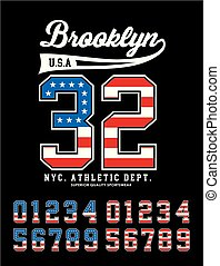 Brooklyn 32 and make a selection numbers the style of the...