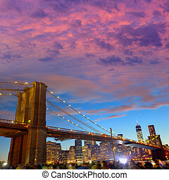 Brooklyn bridge and Manhattan skyline July 4th - Brooklyn ...