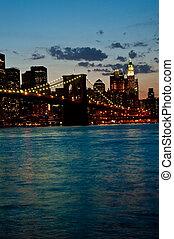 Brooklyn Bridge by twilight