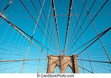 Brooklyn bridge cable system; New York City