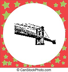 Brooklyn Bridge in New York City vector illustration...