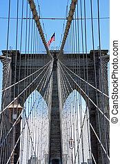 Brooklyn bridge walkway - New York City, USA