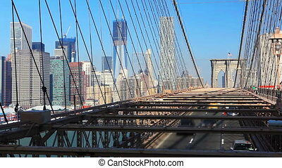 Brooklyn Bridge - New York Manhattan skyline from the...