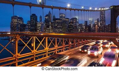Brooklyn bridge timelapse