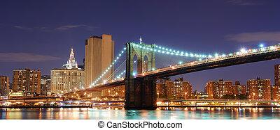 brooklyn bridzs, új york város, manhattan