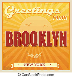 Brooklyn, New York, poster