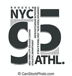 Brooklyn t-shirt graphics. New york brooklyn sport wear typography ... 9e68107b3cd