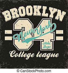 Brooklyn t-shirt graphics
