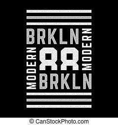 Brooklyn vintage print.