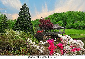 brookside, gärten, in, maryland