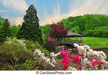 Brookside Gardens in Maryland - Landscape of Brookside...