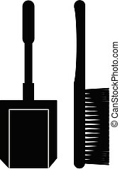 Broom and dustpan vector eps 10