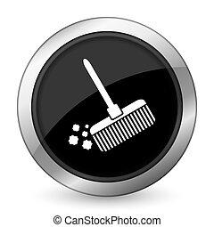 broom black icon clean sign