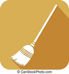 broom flat icon