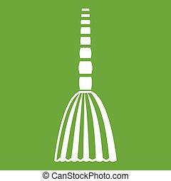Broom floor icon green