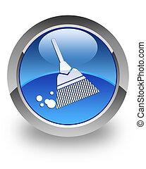 Broom glossy icon