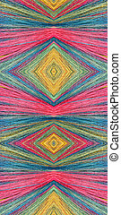 Composite tapestry of colourful broom hairs