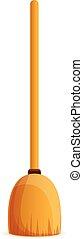 Broom icon, cartoon style